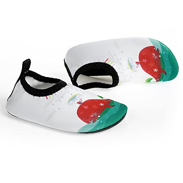 Amazon.com | L-RUN Unisex Swimming Shoes Barefoot Beach Shoes White US 18-24 Months=EU 21-22 | Walking