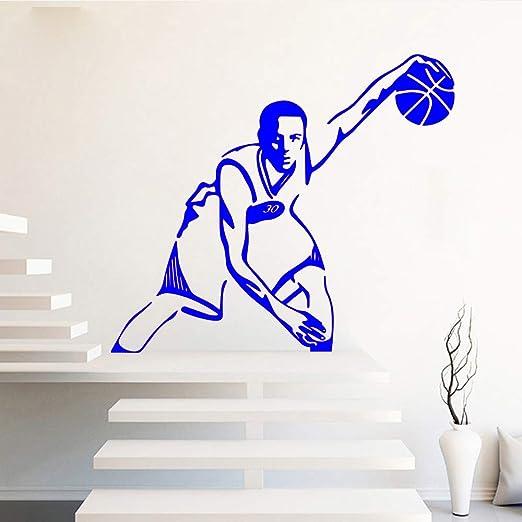 zqyjhkou Basketball Stars 30 Stephen Vinyl Stickers For Boys Room ...