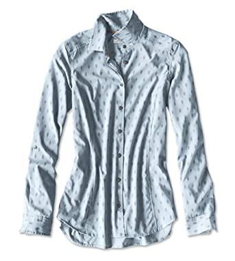 632fd215 Orvis Women's Printed Pack-and-go Long-Sleeved Shirt at Amazon ...