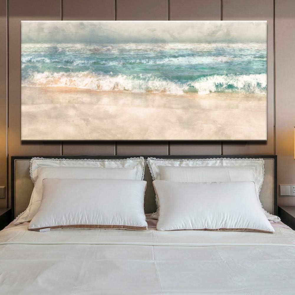 ZXMPGYH Carteles e Impresiones Arte de la Pared Pintura en Lienzo Moderno Abstracto Playa Surf Paisaje Arte de la Pared Cuadros para la Sala de Estar Decoración para el hogar