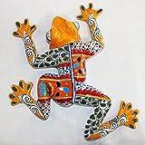 Talavera Medium Wall Frog - 15'' W X 15.5'' L (Yellow Body)