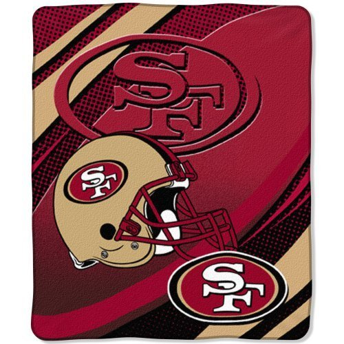 Raschel Plush Micro (The Northwest Company NFL San Francisco 49ers 50-Inch-by-60-Inch Micro-Raschel Plush Throw Imprint Design)