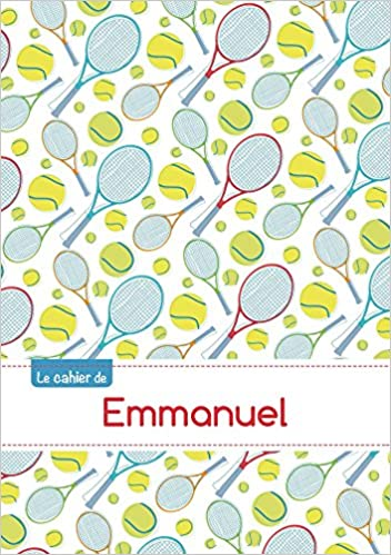 Download Online Le cahier d'Emmanuel - Petits carreaux, 96p, A5 - Tennis pdf epub