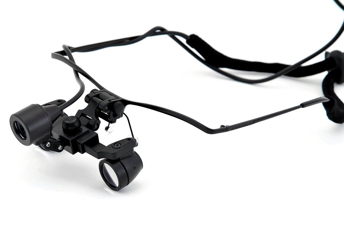Super Small Lens! waterproof Ultra-light depth of Field: 200mm. Working Distance:300-500mm,Half Titanium Frame Binocular Dental Surgical Medical Loupes & Light