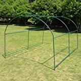 Strong Camel Greenhouse Replacement Frame for 10'X7'X6' Larger Hot Garden House, Support Arch Frame Climbing Plants/Flowers/Vegetables