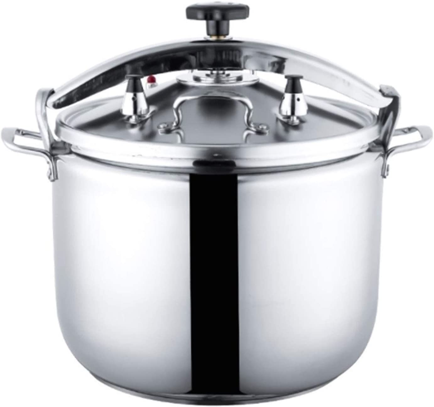 ZBINGAFF Pressure Cooker, 304 Stainless Steel Thickened Double Bottom Explosion-Proof Commercial Pressure Cooker, Family Hotel Gas Induction Cooker Universal 15-50L (Color : Silver, Size : 22L)