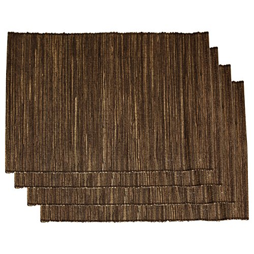 tag Brown Finished Natural Water Hyacinth 18 x 14 Inch Placemat, Set of 4