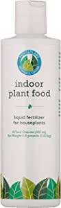 Indoor Plant Food: All-purpose ready-to-use fertilizer for houseplants. 8 liquid ounces. Great for your pothos, peace lily, spider plant, ferns, palms, ficus, african violets, cactus and more!