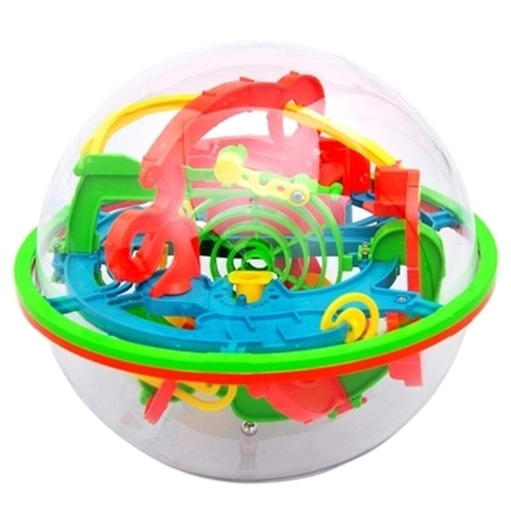 JIAAE 3D Three-Dimensional Puzzle Maze 100 Levels Magic Intellectual Ball Labyrinth Children Toy