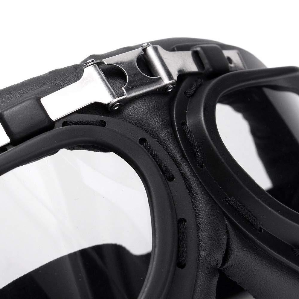 XZANTE A Prueba de Viento Transparente Motocicleta Bicicleta Gafas de Gafas Voladoras Anti-Ultravioleta Casco de Gafas para Harley Cafe Racer Protector