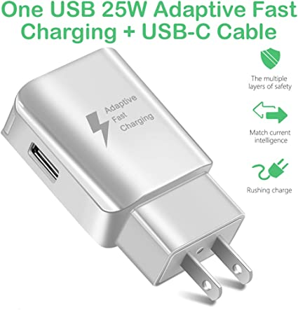 Slim Travel Car /& Wall Charging Kit Works with Samsung Galaxy A71 5G Includes USB Type-C Cable! 1.2A5.5W