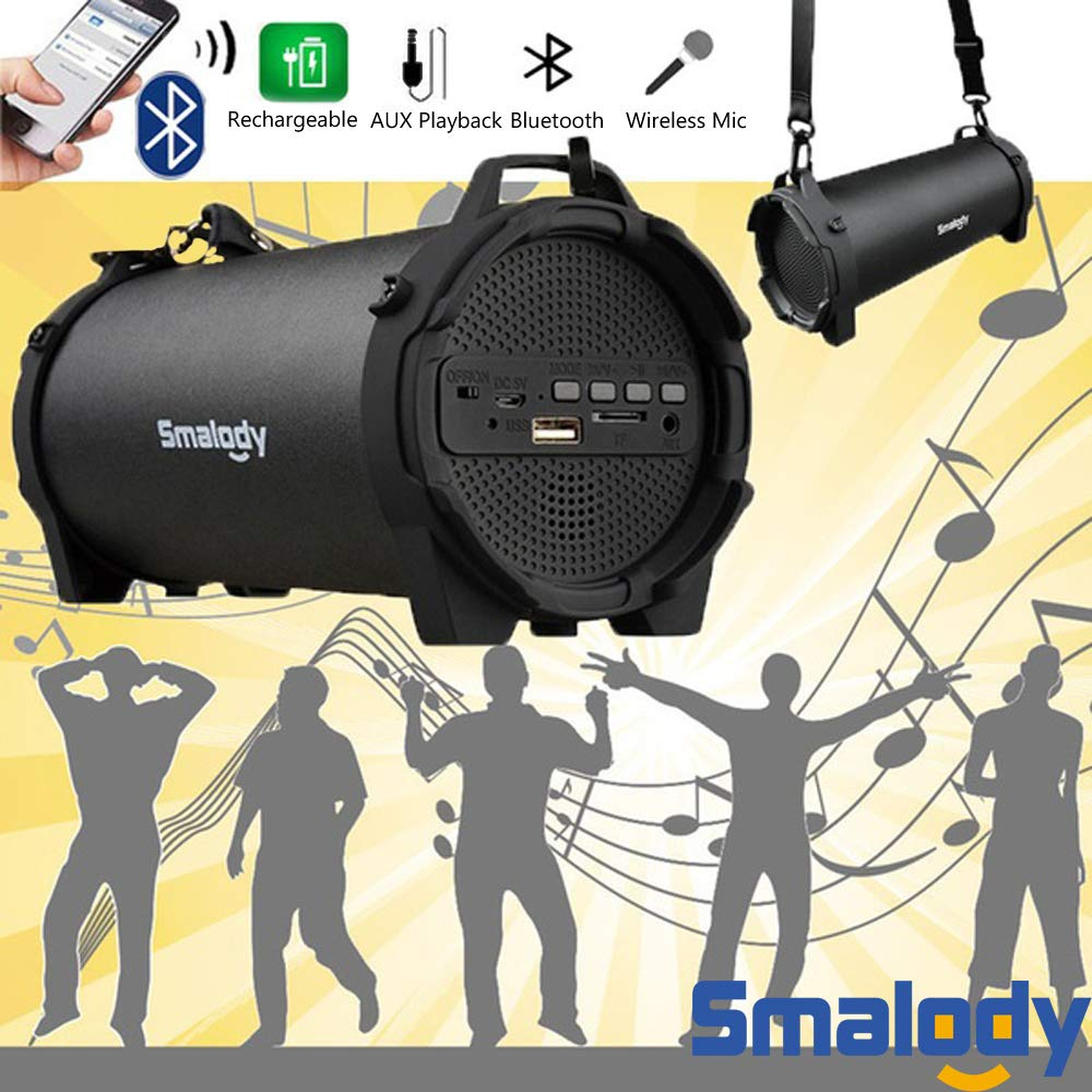 Amazon.com: Smalody Bluetooth Speaker Portable Outdoor Wireless Speakers with Carrying Strap Built in USB, TF Card Slot,Aux Best for Party,Camping ...