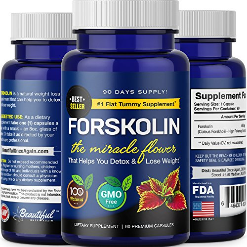 FORSKOLIN for Weight Loss (3 Months Supply) Pure Extract | 100% Natural Diet Pills that Work Fast for Women & Men. Burn Fat, Trim & Slim. Premium & Ultra.