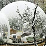 HUKOER Stylish Conservatory, Play Area for Children, Greenhouse or Gazebo,Outdoor Single Tunnel Inflatable Bubble Tent,Family Camping Backyard Transparent Tent with Blower