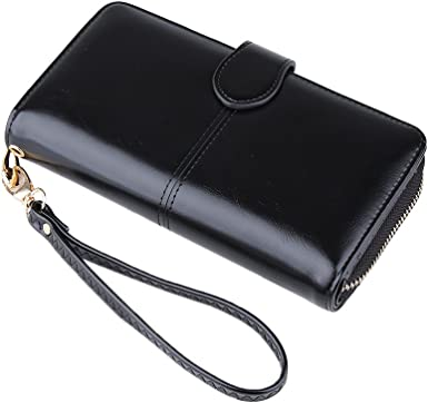 Genda 2Archer Genuine Leather Slim Wallet Clutch Purse Tri-fold Wallet