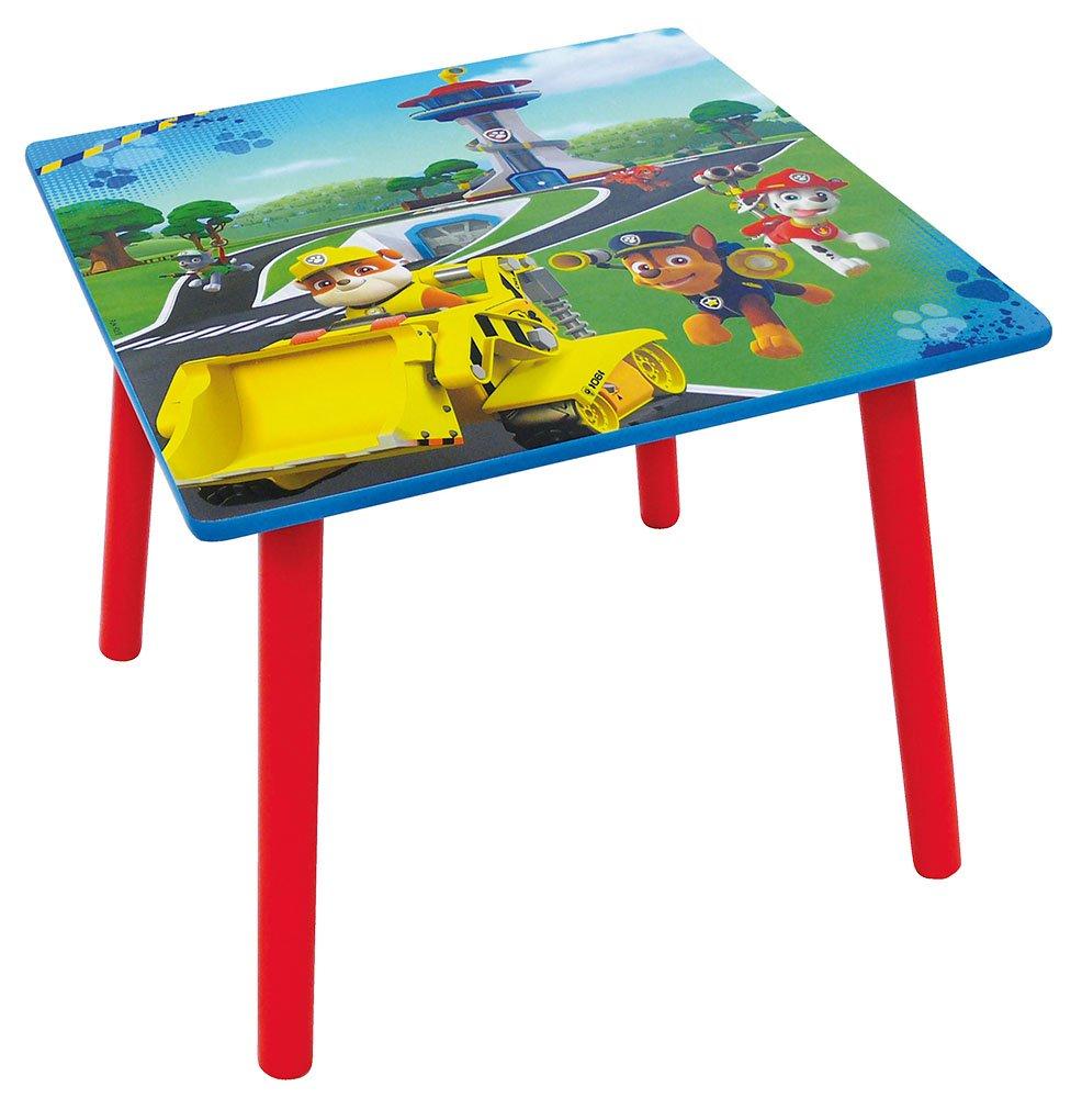 FUN HOUSE 712593 Pat Patrouille Table Carrée pour Enfant Bois MDF Bleu 50 x 50 x 44 cm CIJEP - JEMINI