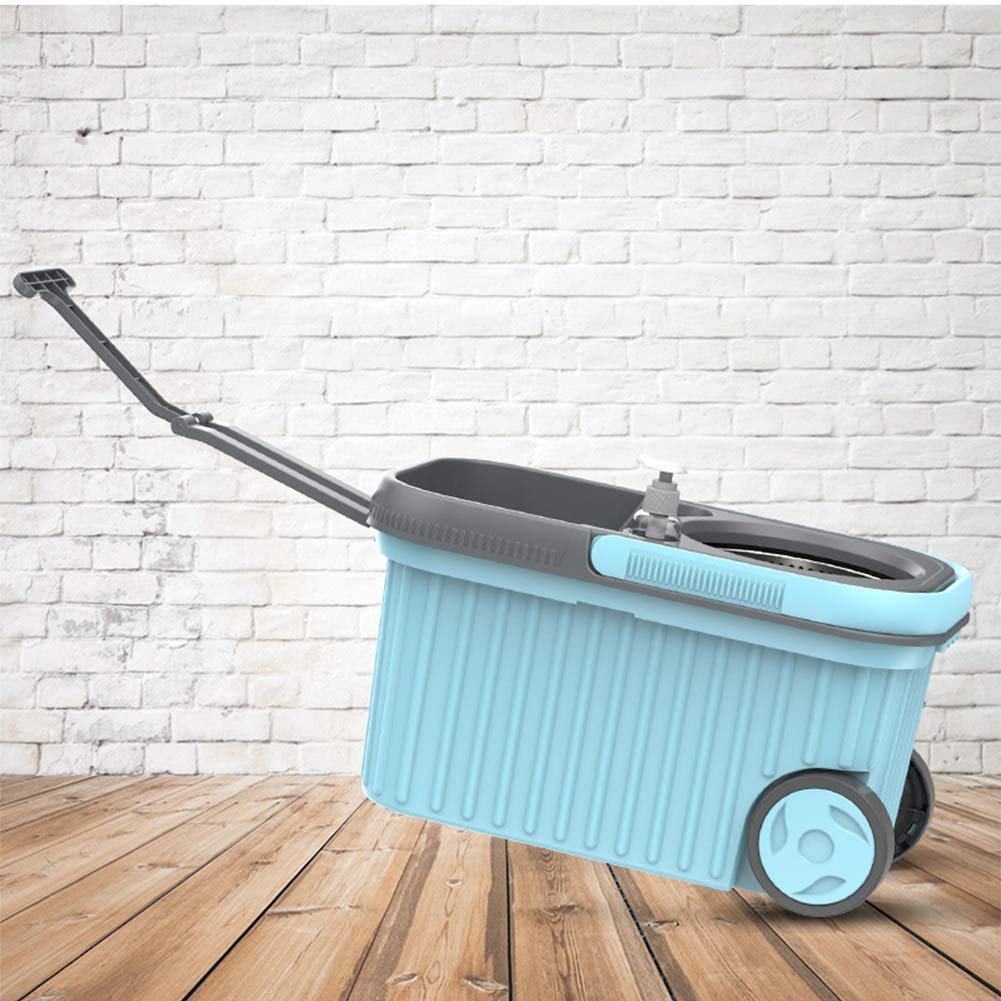 QAQ 360°-Drehung Wischmop Wischmop Wischmop Entwässerungsrahmen Aus Edelstahl Doppelantrieb Starke Dekontamination Keine Notwendigkeit Zum Waschen,Blau,OneGröße B07PS5W2Z5 Schaufel & Besen Sets 826caf