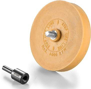 Rubber Eraser Wheel w//arbor pinstripe sticker decal tape glue adhesive remover