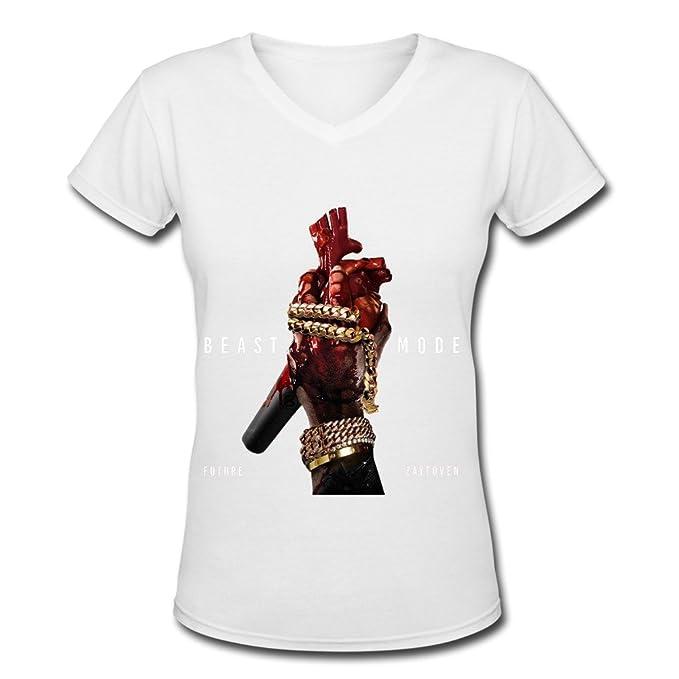 Soulya Women's Future Beast Mode Streetwear Short Sleeve Cotton V