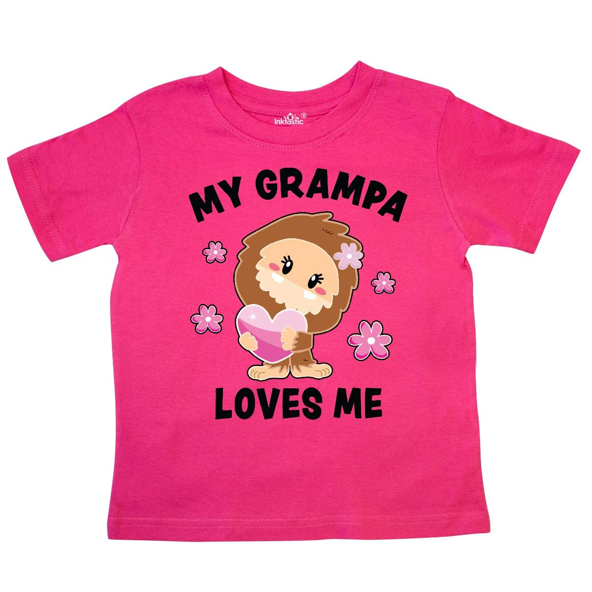 inktastic My Grampa Loves Me with Bigfoot Toddler T-Shirt