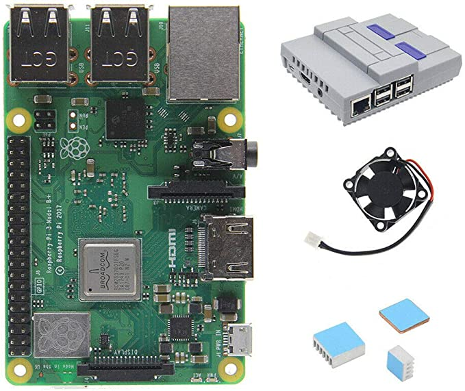 Shumo 4 en 1 Raspberry Pi 3 Modelo B (Plus) Placa Minis Estilo Caja/Caja Ventilador de Enfriamiento Disipadores de Calor: Amazon.es: Electrónica