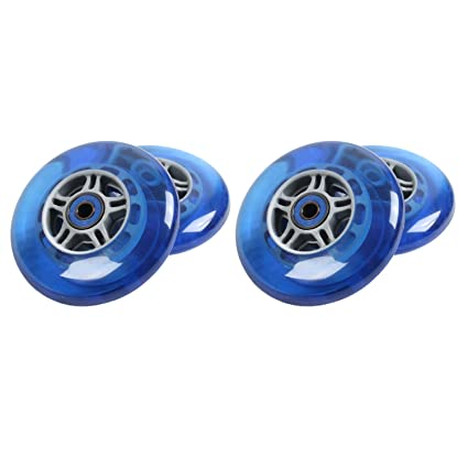 Amazon com : TGM Skateboards 4 Blue Wheels W/Abec 7 Bearings