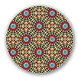 Uneekee Mandala Mosaic Lazy Susan: Small, pure birch wooden Turntable Kitchen Storage