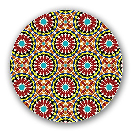 Uneekee Mandala Mosaic Lazy Susan: Large, pure birch wooden Turntable Kitchen Storage by uneekee