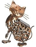 Metal Scroll Cat Solar Light