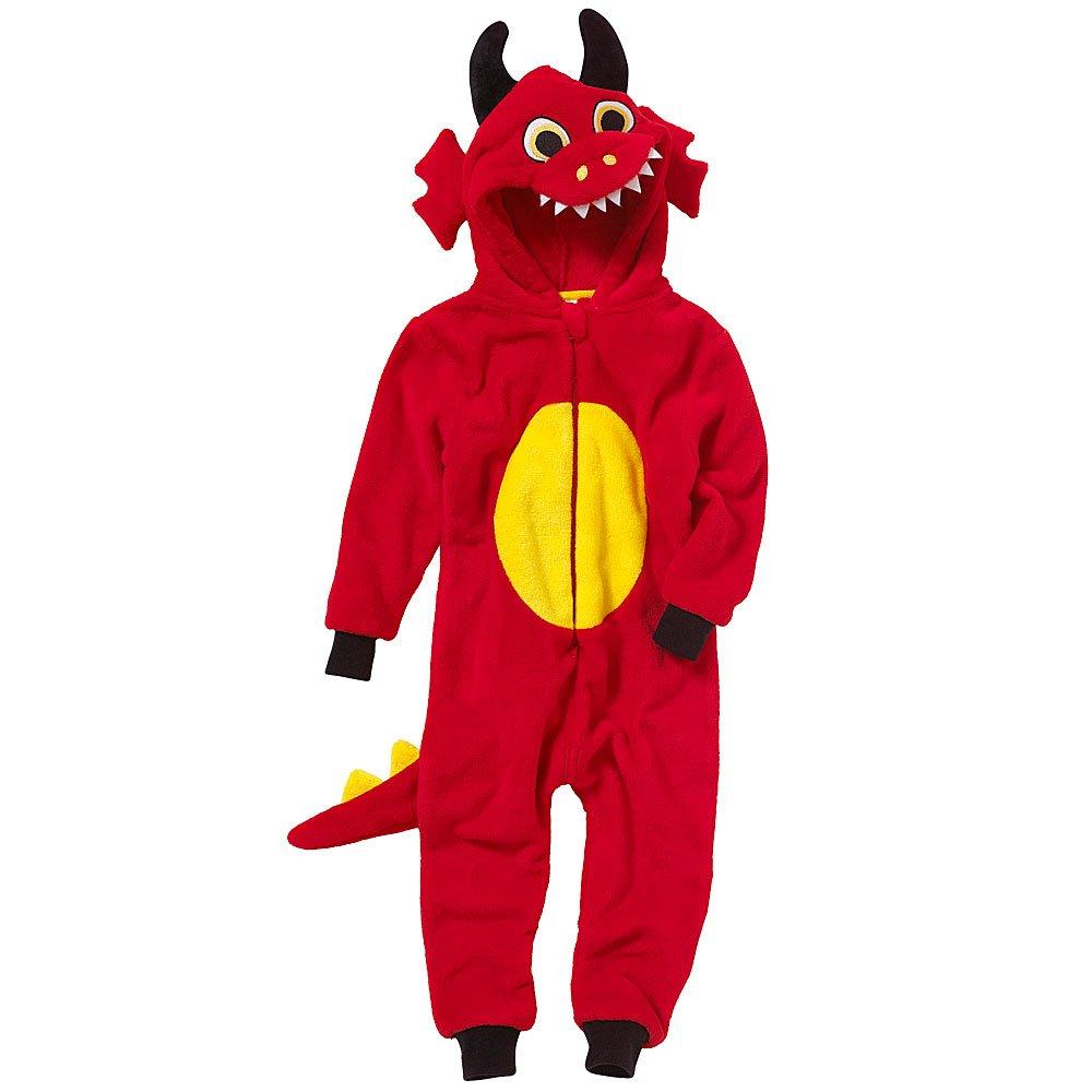 Onesies Animal Crazy Boys Supersoft Fleece Dragon Jumpsuit Playsuit