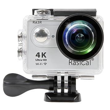 4K (ムソン) 170度広角レンズ 30M防水 1200万画素 防犯カメラ 2インチ液晶画面 MC2 リモコン付き ブラック ハルメット式 MUSON WiFi搭載 アクションカメラ
