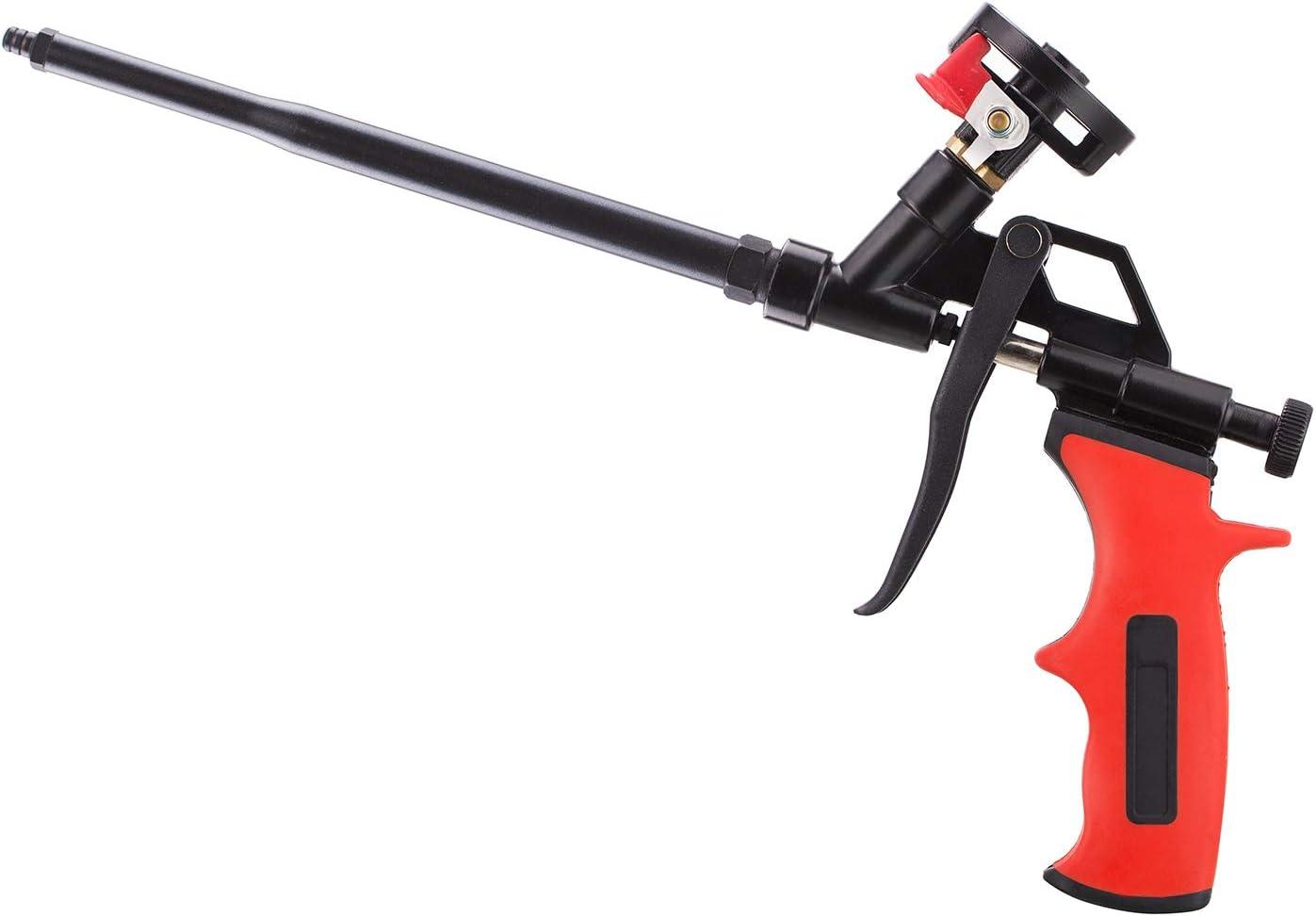 Pistola de espuma, no necesita limpiador, espuma de poliuretano con revestimiento de teflón (PTFE), adecuada para sellar, rellenar, sellar, para el hogar y uso en la oficina, Negro