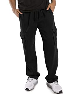 Bright Sun Comfy Mens Track Pants Jogger Sweatpants Ankle Zip Long Drawstring Three Color Stripe #SHAS