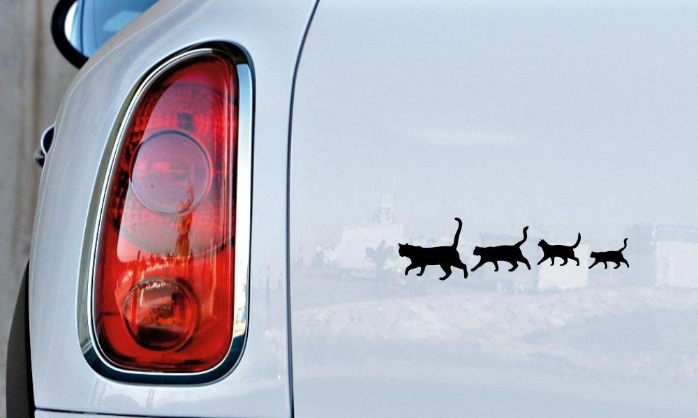 Amazon.com: Familia de gatos Silueta versión 2 coche Vinilo ...