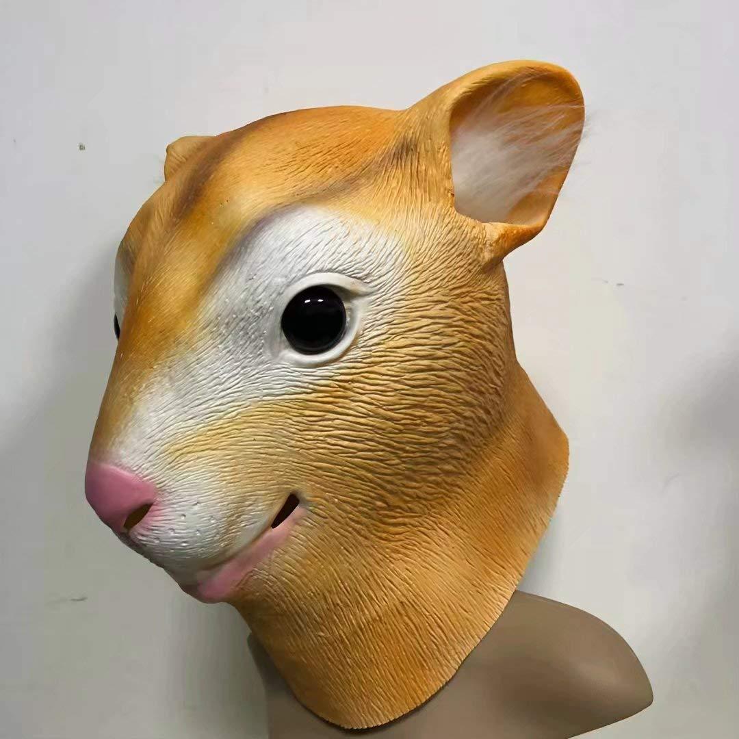 Ardilla Máscara Simulación Látex Animal Arnés Hámster Fiesta de ...