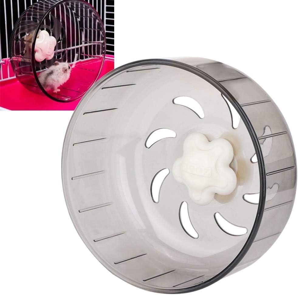 Rueda para hámster para Mascotas, 13cm / 5.1 pulgadas plástico Transparente Rueda de Cinta de Correr con diseño aerodinámico Rueda de Ejercicio para Mascotas pequeñas