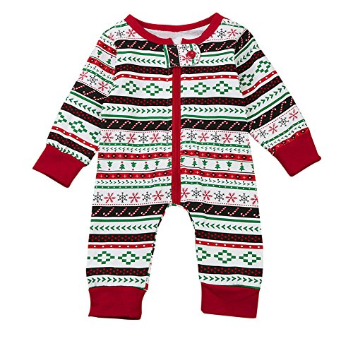 BabiBeauty Newborn Baby Girl Christmas Bodysuit Jumpsuit Playsuit Pajama Baby Boys Pants Set Outfit (0-3 months, X-mas style) (Christmas 0-3 Outfits Month)