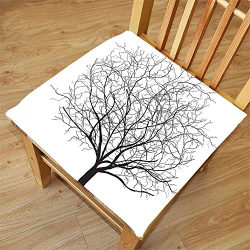Nalahome Set of 2 Waterproof Cozy Seat Protector Cushion Apartment Decor An Old Withered Oak Crown without Leafs Tree Branches Illustration Black and White Printing Size - Leaf Sunglasses Oak