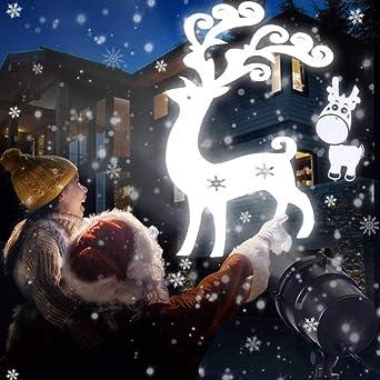 Weihnachtsbeleuchtung Aussen Schneefall.Led Schneeflocken Projektor Schneefall Licht Lichteffekt Projektionslampe Ip65 Wasserdicht Schneeflocke Weihnachtsbeleuchtung Für Außen Und Innen