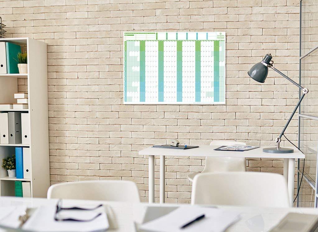 Geopacks Large 2019//2020 Academic Year Wall Planner 61 x 85cm