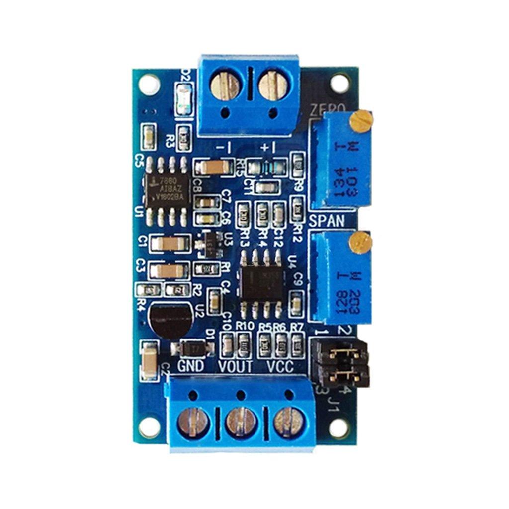 FXCO Current To Voltage Module 0/4-20mA To 0-3.3V 5V 10V Voltage Transmitter