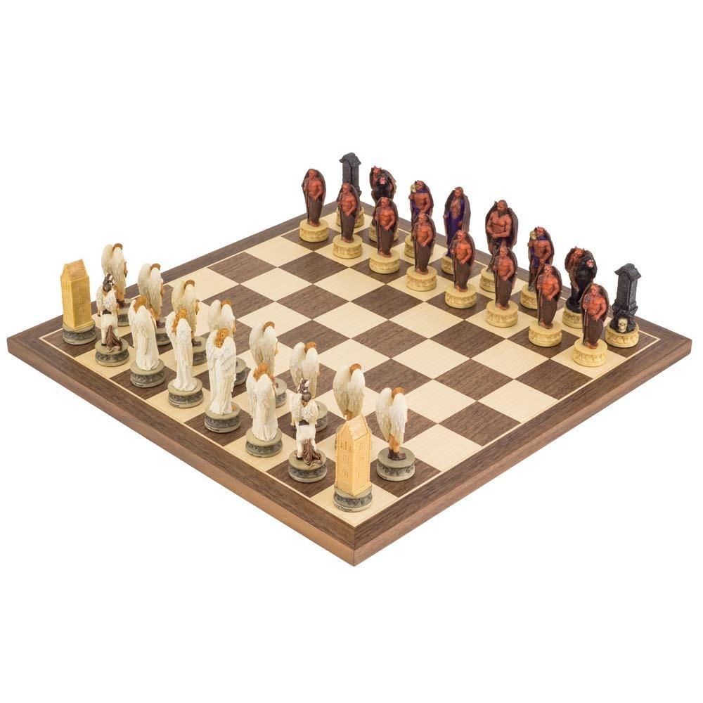 The Regency Chess Chess Chess Company Ltd The Napoleon vs Russen handbemalt stilisiert Schach festgelegten italfama cb4718