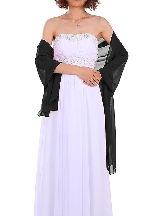 Chal de gasa para vestidos de novia o vestidos de noche - Disponible en varios colores.