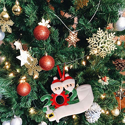2020 Christmas Ornaments – Creative Christmas Ornaments Personalized Gifts for 2 Family Members Customized Party…