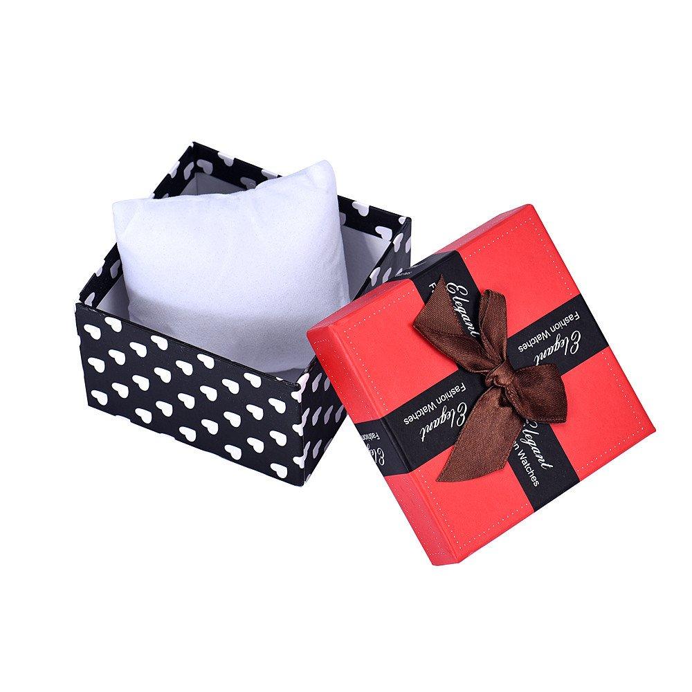 Jonerytime❤️Durable Present Gift Box Case for Bracelet Bangle Jewelry Watch Box White