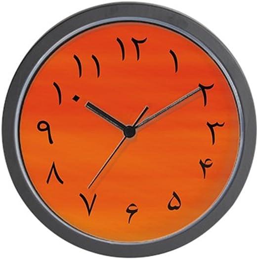 """- Unique Decorative 10/"""" Wall Clock CafePress Red Iranian Wall Clock"""