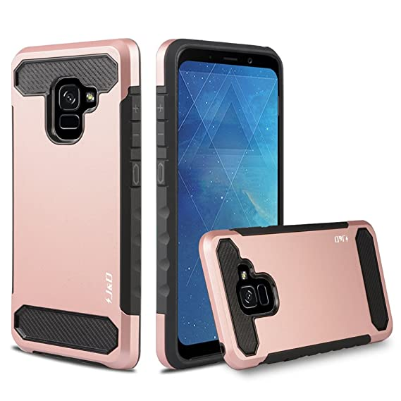 new product 6bb74 f6d31 J&D Case Compatible for Galaxy A8 2018 Case, Heavy Duty [Carbon Fiber]  [Dual Layer] Hybrid Shock Proof Protective Rugged Case for Samsung Galaxy  A8 ...