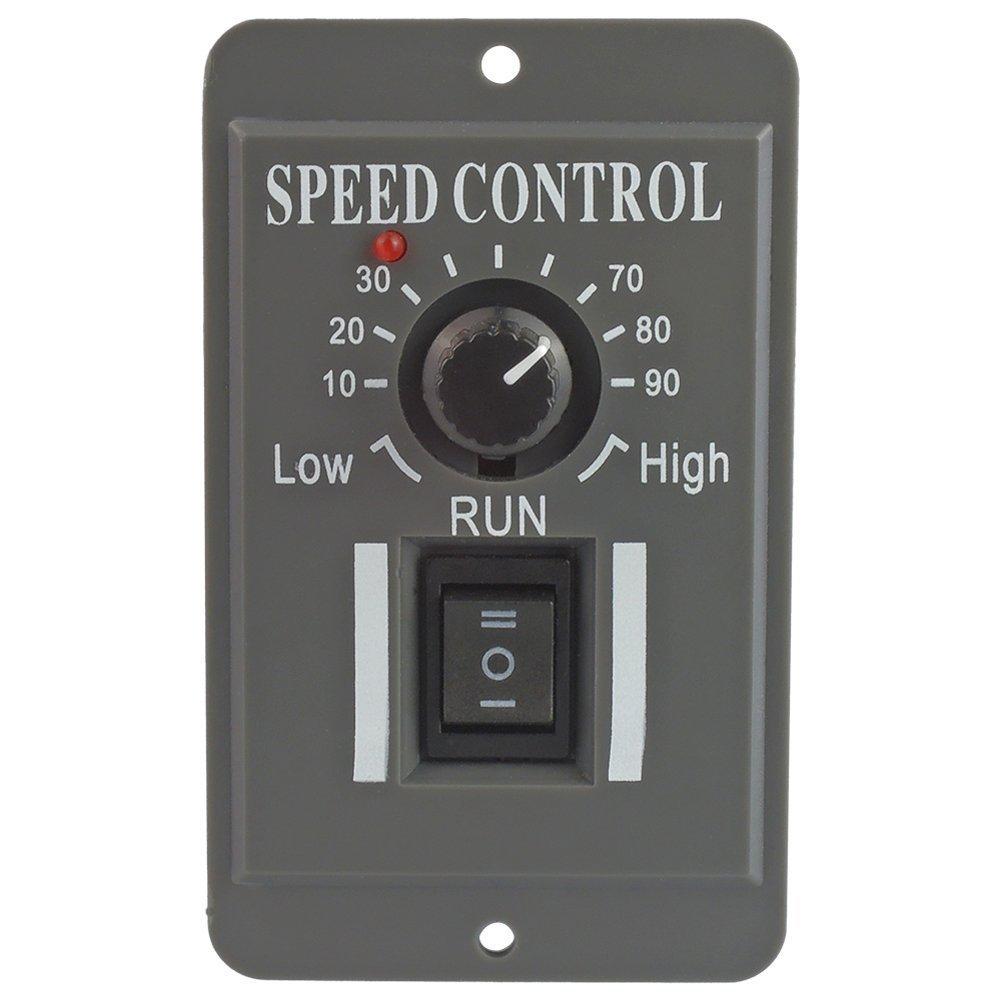 uniquegoods 12V 24V 36V 48V 6A DC Motor Speed Controller Adjustable Reducer Control Switch With Shell