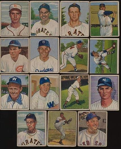 Amazoncom Sports Memorabilia 1950 Bowman Baseball G Avg Lot 15