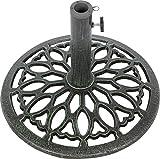 umbrella base cast iron - Trademark Innovations Cast Iron Umbrella Base -17.5 Inch Diameter (Green)